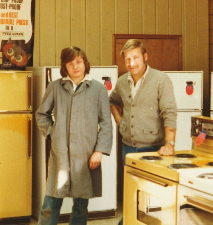 My uncle and I working in my dad's appliance store. (1980)