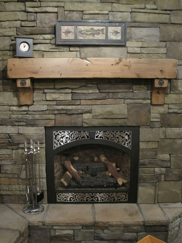 Rustic Fireplace Mantel Shelf Corbels Antique Bolts