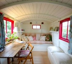 Interior of a wonderful tiny house -  -  To connect with us, and our community of people from Australia and around the world, learning how to live large in small places, visit us at www.Facebook.com/...