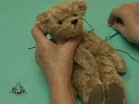 How to Make a Teddy Bear - #10 Facial Features - YouTube