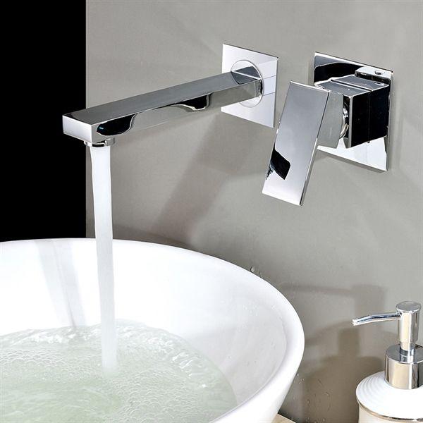 洗面用蛇口 壁付水栓 バス水栓 混合水栓 クロム 水栓 Faucets 水栓 水道 蛇口 蛇口