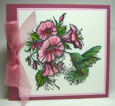 Hummingbird inkadinkado - Homemade Cards, Rubber Stamp Art, & Paper Crafts - Splitcoaststampers.com