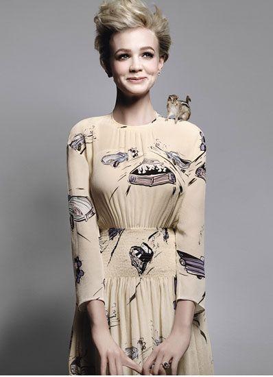 carey mulligan aka sally sparrow: Girls Crushes, Carey Mulligan, Shorts Hair, Squirrels, Retro Cars, Chipmunks, Careymulligan, W Magazines, The Dresses