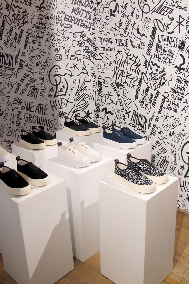#Eytys installation at Goodhood in London, Spring/Summer 2015. Artworks by Sasha Kurmaz.