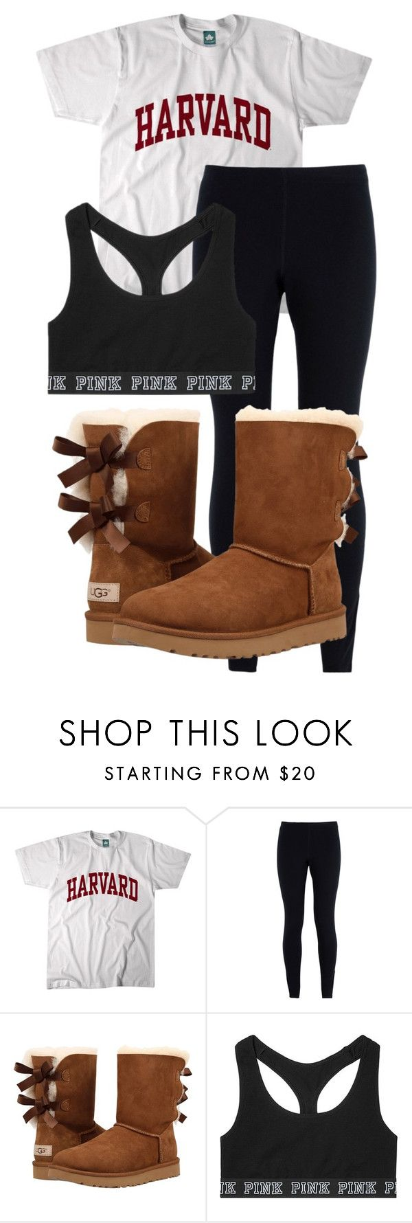 """""""School Outfit"""" by chloefaust on Polyvore featuring NIKE, UGG and Victoria's Secret"""