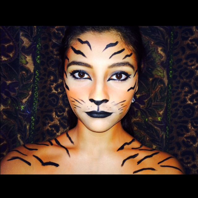 Halloween tiger makeup                                                                                                                                                                                 More