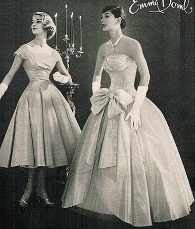 Emma Domb, 50s: 1950S Gowns, Vintage Fashion, Vintage Dresses, 1950S Dresses, Emma Domb, Vintage Elegant, Things Pretty, 1950 S, Beautiful Fashion