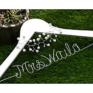 Personalized Wedding Dress Hanger with pearl flow... – USD $ 14.99