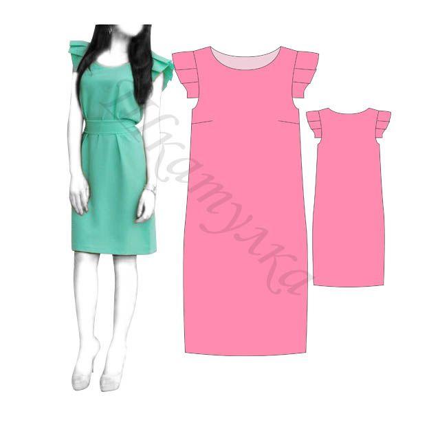 Выкройка простого платья с рукавами-крылышками