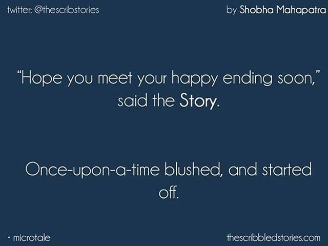 I'm mesmerised.. Writer killed it here. Once upon a time meets happy ending.