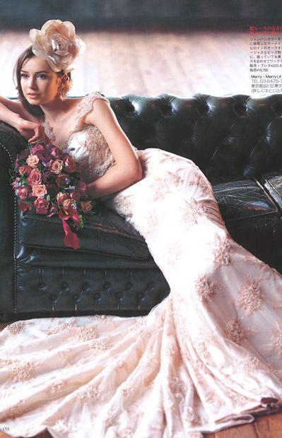 MMD-1069  \213,000  Wedding BOOKに掲載して頂きました。  マーメイドドレス、マーメイドラインのメリーマリー Merry Marry
