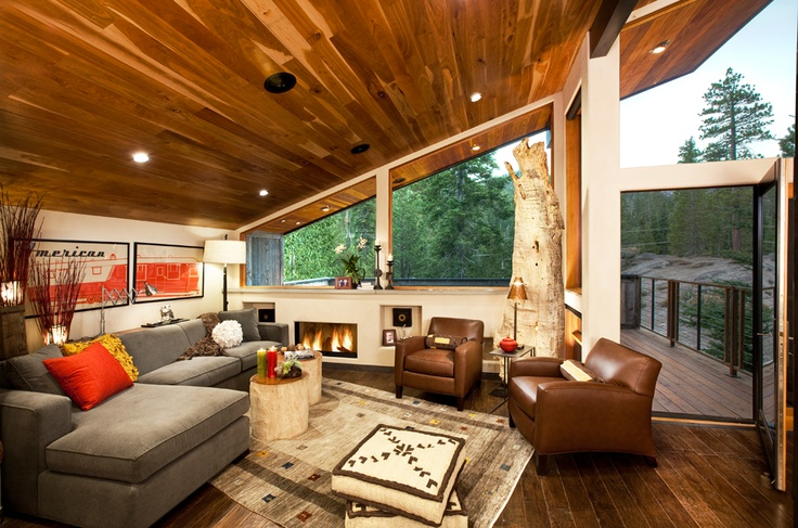 Alpine Meadows home.  American Clay Porcelina finish with Sugarloaf White color.: Alpin Meadow, Mountain Cabins, Photos Galleries, Cabins Remodel, American Interiors, Interiors Design, Spirit Interiors, Cabins Ideas, American Clay