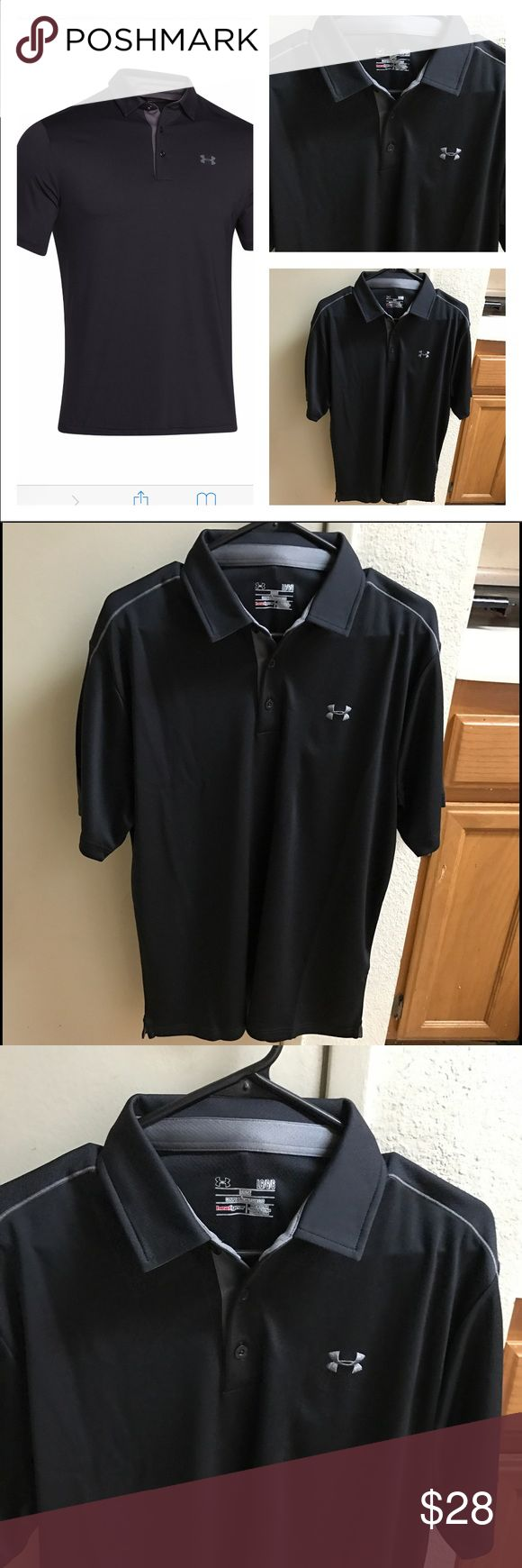 Under Amour  men polo Black under amour men polo Under Armour Shirts Polos