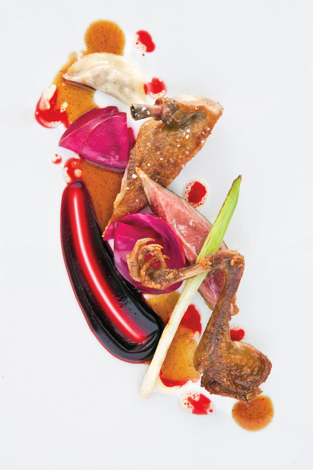 Daniel Humm's roasted squab with beets. Photo by Christopher Villano