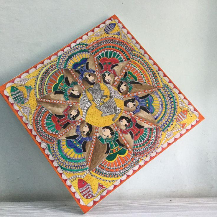 Madhubani painting by Kalacreation13 on Etsy