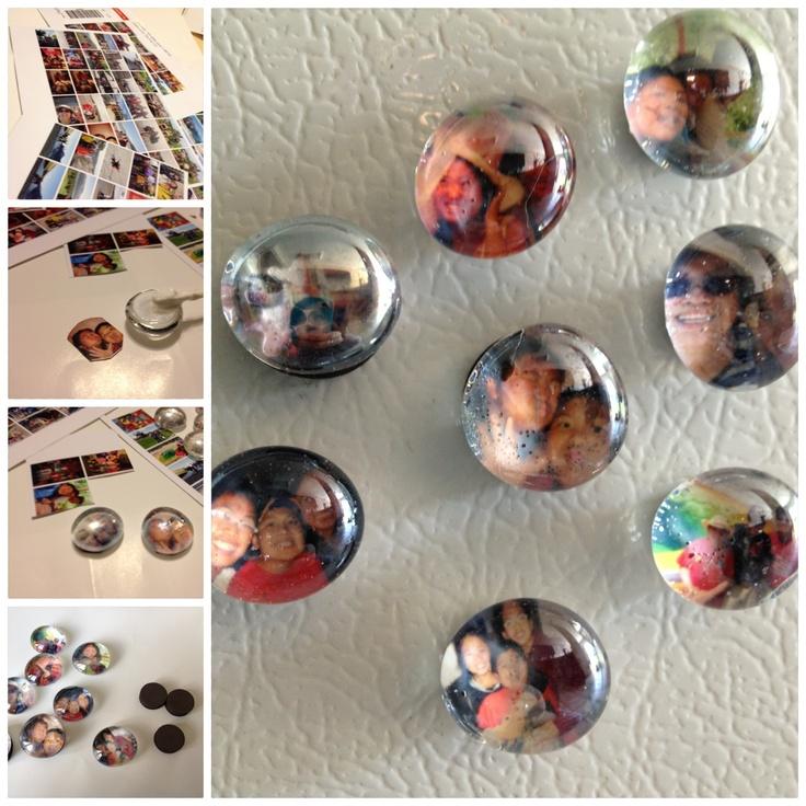 Why waste digital photo printing's negatives! - Mini bubble fridge magnets. :)