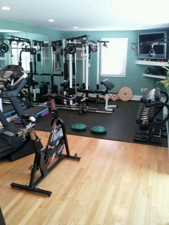 58 Awesome Ideas For Your Home Gym. I'm turning a spare bedroom into my personal gym. I need this pin!