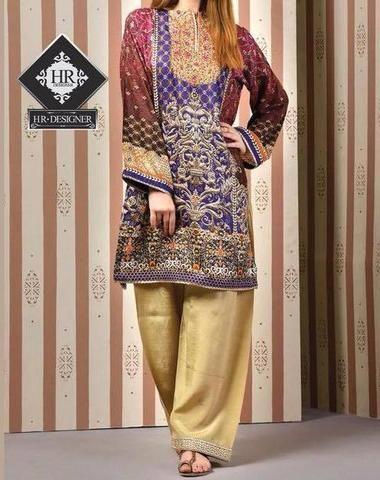88a1d369 Kesariya Lawn Suit, Ladies Designer Replica, Online Clothes Shopping ...