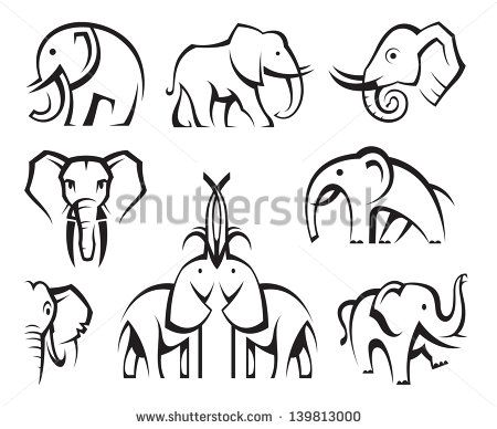 Elephant Outline - Google zoeken