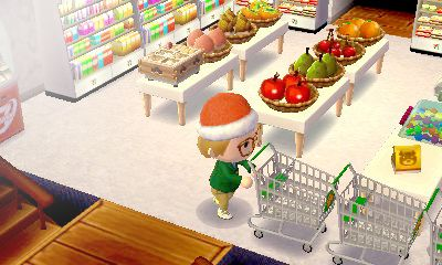 awesome! Animal Crossing New Leaf grocery store themed room!