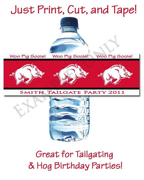 water bottle labels. For when my boys ask me for a Hog party. Bc u know it is gonna happen!!