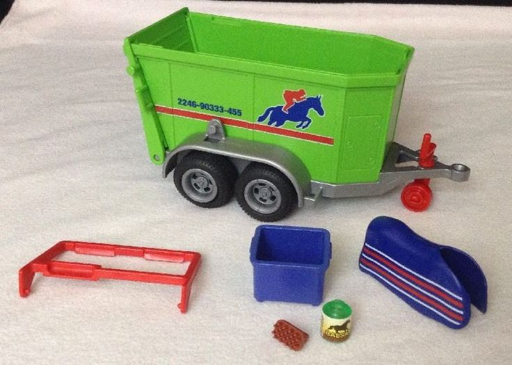 REPLACEMENT Playmobil 4189 Horse Trailer 2006 TRAILER w/ Accessories Pieces Part #PLAYMOBIL