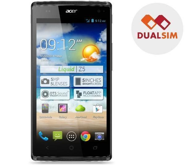 ACER Liquid Z5 Duo - grey - Dual SIM Smartphone - might be worth considering, but out of stock - actually has a cheapish case