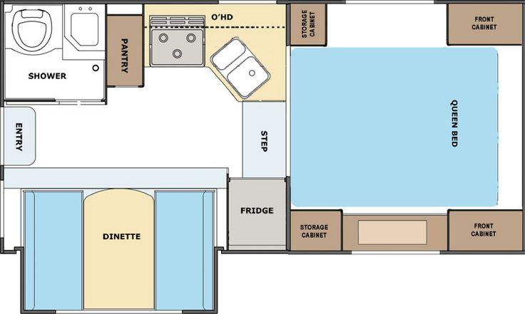 855S Lance Truck Camper - floorplan