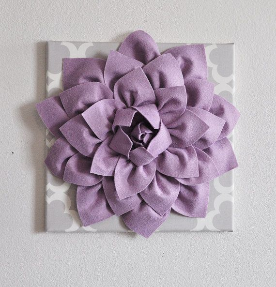 Large Lilac Flower Wall Hanging Flower Wall Decor On