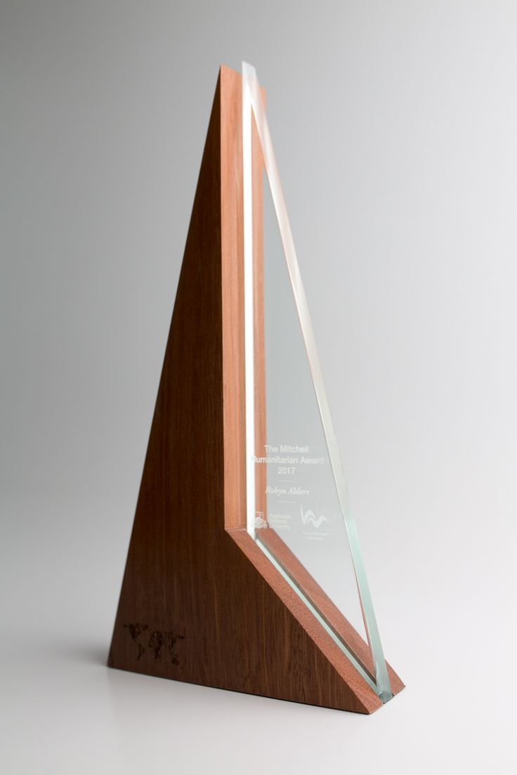 Unity tall modern trophy creative design beautiful materials not glass - The Mitchell Humanitarian Award Anu The Harold Mitchell Foundation Design Awards Acrylic Trophyglass