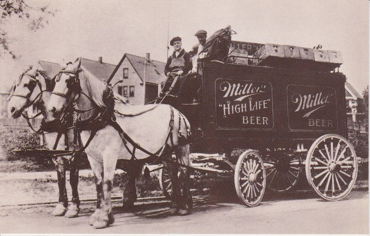 Image result for horse and buggy miller brewing