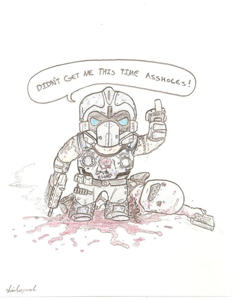 Gears of War 3 Carmine Lives by IllIntentions