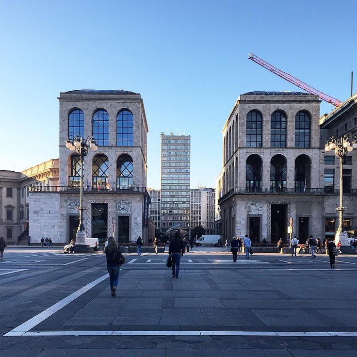 View on Arengario from Piazza Duomo, Milan, Italy.