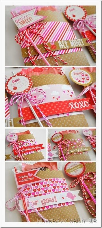 Valentine's Day treat bags featuring Doodlebug Design products!    wendysue_doodebug_sweetheart_treats_deatils
