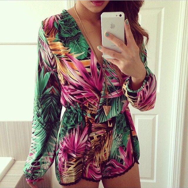Find More Macacões - Feminino Information about mel impressão moda nova moda feminina macacão macacao feminino,High Quality Macacões - Feminino from Honey Co. Ltd. on Aliexpress.com: