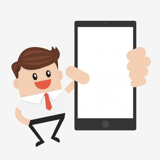 Big Screen Screen Mobile Phone Mobile Phone Cartoon Cartoon Man The Man Png And Vector With Transparent Background For Free Download Phone Template Mobile Phone Cartoon Man