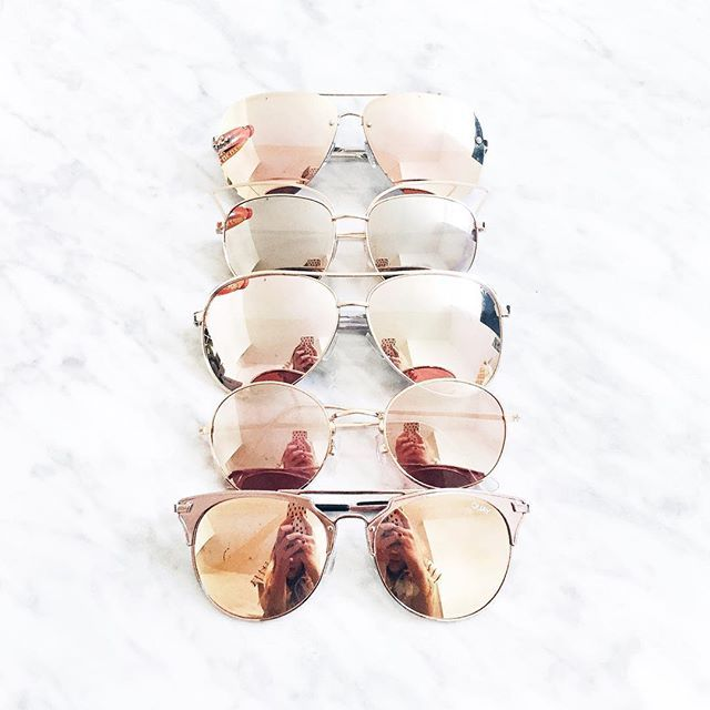 So I might have a thing for rose gold sunglasses..