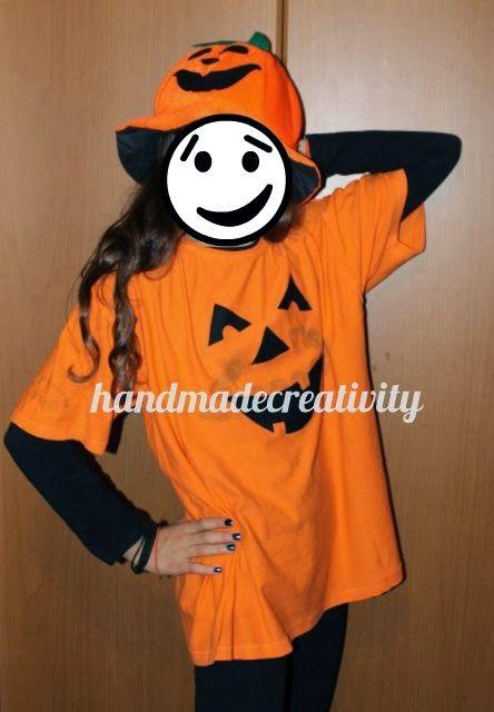 Carnevale 2014: vestito da zucca facile, economico e veloce! by Handmade Creativity - easy pumpkin t-shirt costume DIY TUTORIAL