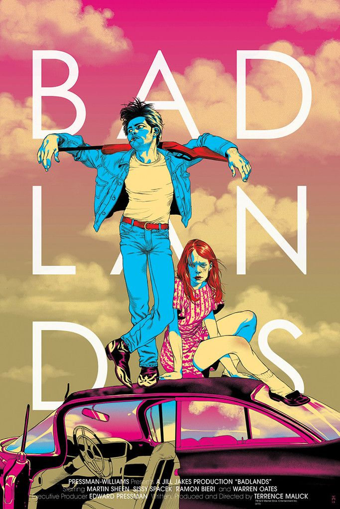 "Badlands (Variant) By Tomer Hanuka Hand numbered. Printed by D&L Screenprinting. EDITION OF: 125 HEIGHT: 36"" WIDTH: 24"""