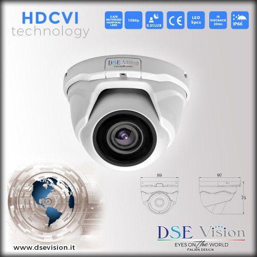 DS-VMHD20MPD Telecamera a colori dome varifocale motorizzata 2.8/8mm IR impermeabile