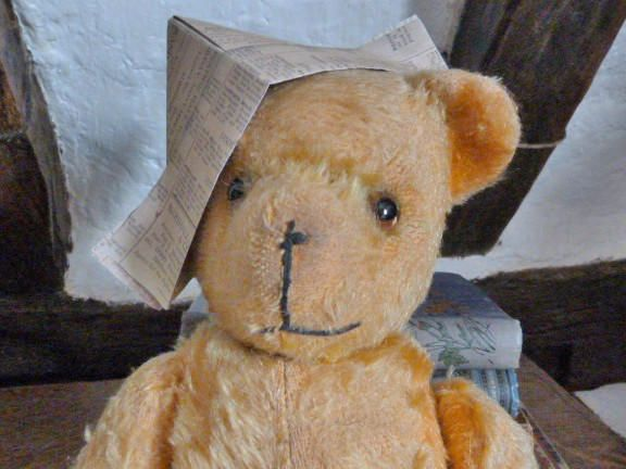 Vintage Teddy Bear, antique teddy bear, Pedigree bear, old bear, golden mohair bear, jointed bear, vintage childrens toy, by NansCottageVintage on Etsy