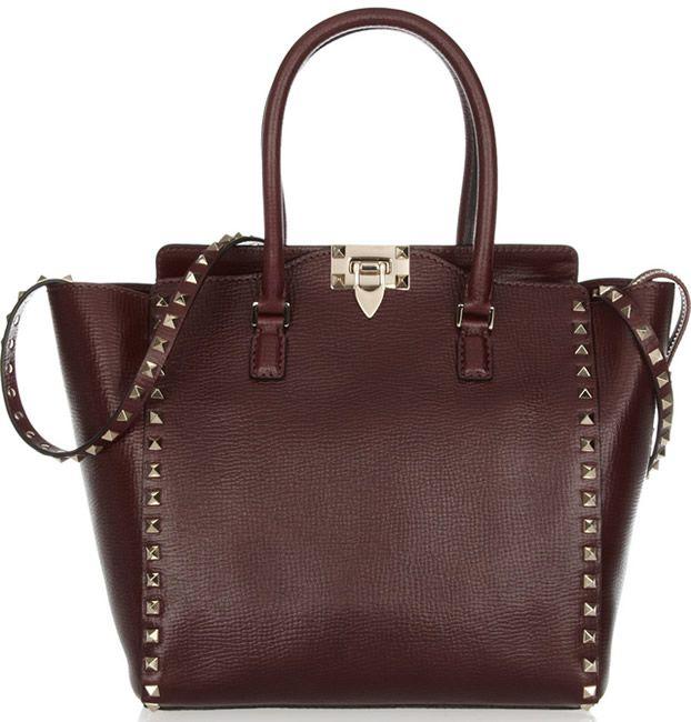 Valentino Rockstud Burgundy Bag