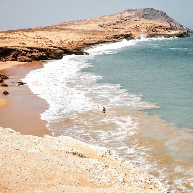 The beach is playa Pilon de azúcar near Cabo de la Vela. You just have to take a moto taxi for 10 minute. It's a Lovely beach in the desert. You feel insignificant in a such environment. Currents and waves are strong, the desert has no compassion for the