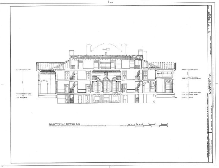 Monticello section architecture pinterest thomas for Monticello floor plan