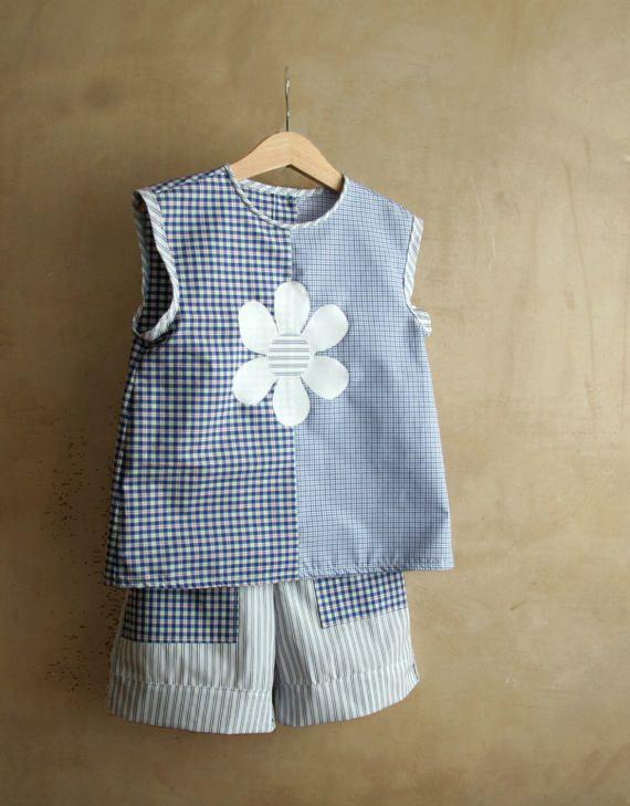 Girl clothes blouse and shorts for rebel girls sleeveless #rebelgirls, #rebelgirlsdress