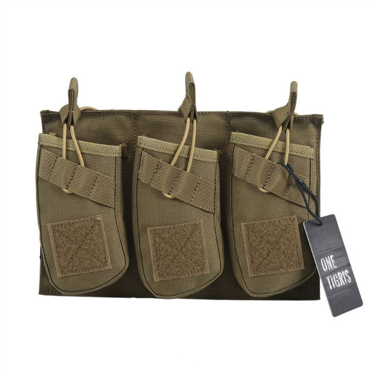 [ONETIGRIS] Triple Open Top Mag Molle Pouch with Bungee System