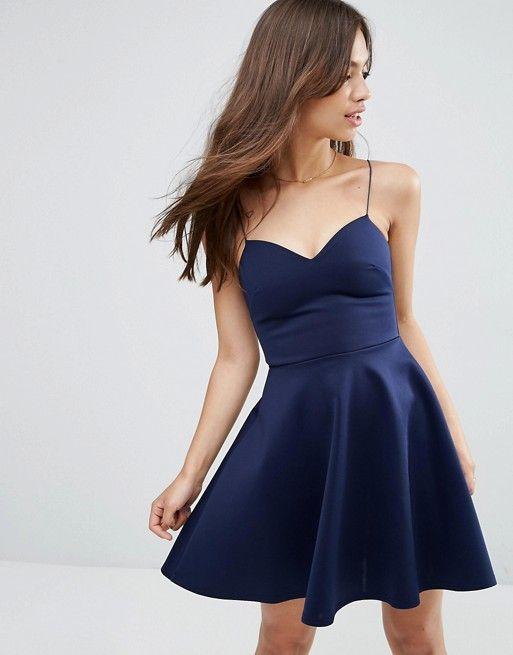 asos asos scuba strappy mini skater dress maxi dress prom