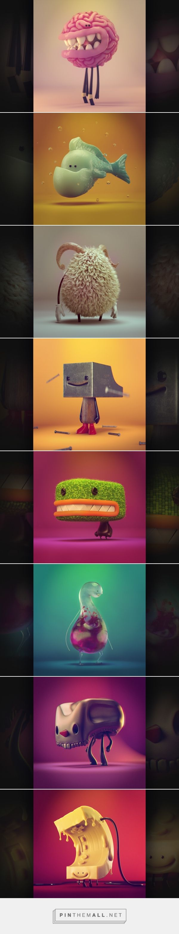 Amigos project on Behance - created via https://pinthemall.net