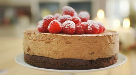 Mary Berry celebration chocolate mousse cake recipe on Mary Berry's Absolute Christmas Favourites