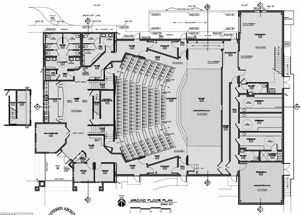 FLOOR PLANS - Camelot Theatre, Ashland OR  -  Design by Bruce Richey, AIA, Ashland, OR